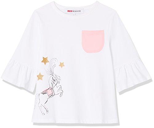 Red wagon t-shirt con stampa circo bambina, bianco (weiß), 116 (taglia produttore: 6 anni)
