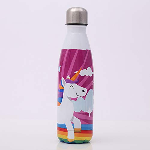 JIUJ Sport-Wasserflasche Kreative Cola-Flasche Edelstahl Tasse Outdoor