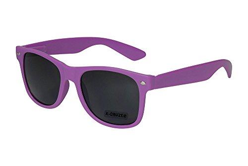 X-CRUZE® 8-075 X0 Nerd Sonnenbrille Retro Vintage Design Style Stil Unisex Herren Damen Männer Frauen Brille Nerdbrille - lila