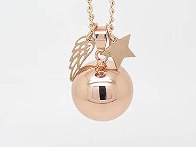Bola de Grossesse Personnalisable Lisse Couleur Or Rose aile d'ange ét Etoile Cadeau Future Maman Cadeau de Grosesse F de Bm creations