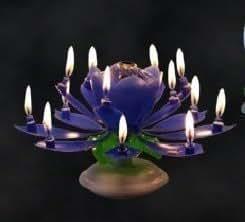 "Candele musicali blu ""Tanti auguri a te"" con Fontana e candeline decorative per compleanno, matrimonio: 14 candele musicali"