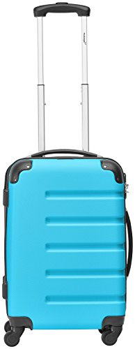 Packenger Marina suitcase, trolley, hard case, M in blue. 54x38x22cm