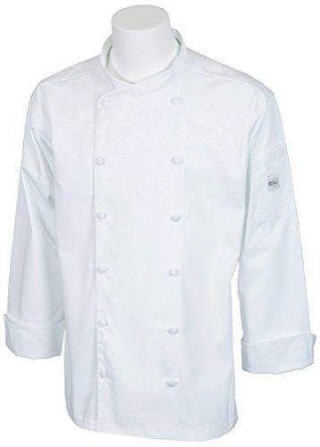 Mercer Culinary Renaissance Herren Rundhalsausschnitt Chef Jacke, S, weiß, 1