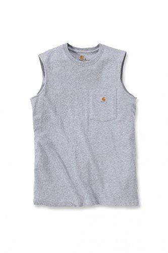 Carhartt Workwear Pocket Sleeveless Shirt 100374 Heather Grey