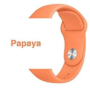 Armband für Apple Watch in Papaya 38/40mm passend für Apple Watch 1 2 3 4 5