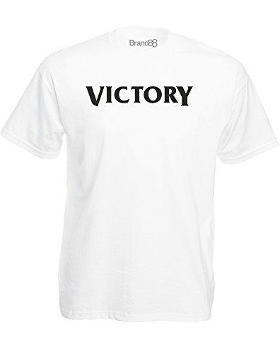 Brand88 - Brand88 - Victory, Mann Gedruckt T-Shirt Weiß/Schwarz