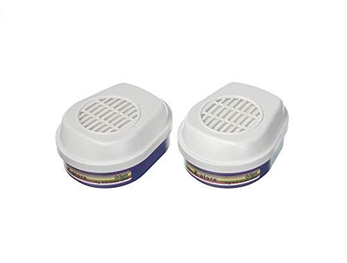Dräger X-plore Bajonett Kombi-Filter A1B1E1K1Hg P3 für Gase, Dämpfe, Partikel | 1 Paar | Filter für Voll- und Halbmasken X-plore 3300, 3500 und 5500 E1 Filter