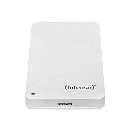 Intenso Memory Case 1 TB Externe Festplatte (6,35 cm (2,5 Zoll) 5400 U/min, 8 MB Cache, USB 3.0) weiß