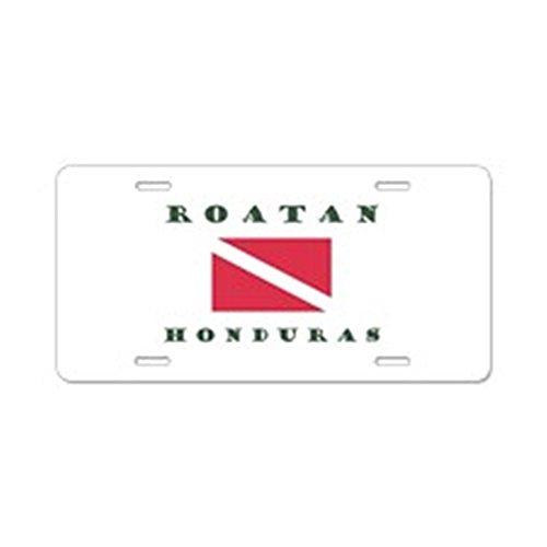 CafePress-Roatan Dive Design-Aluminium Nummernschild, vorne Nummernschild, Vanity Tag -