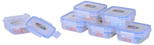 SKI Rectangular Lock & Seal Containers 250 ML - Set of 6 Containers/Airtight boxes.