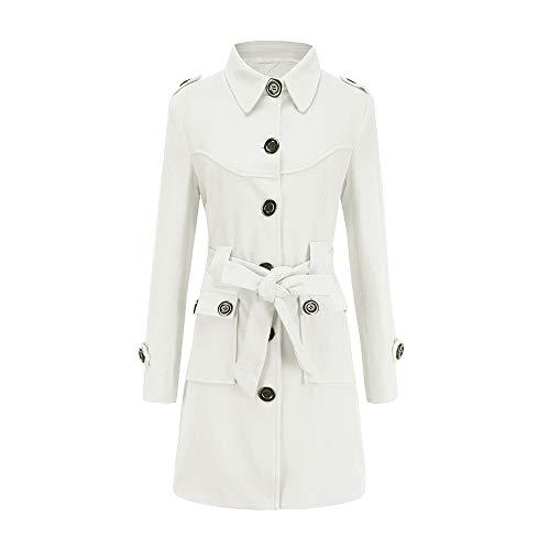 MIRRAY Damen Mantel Winter Warme Künstliche Woolen Trench Parka Jacke Gürtel Outwear