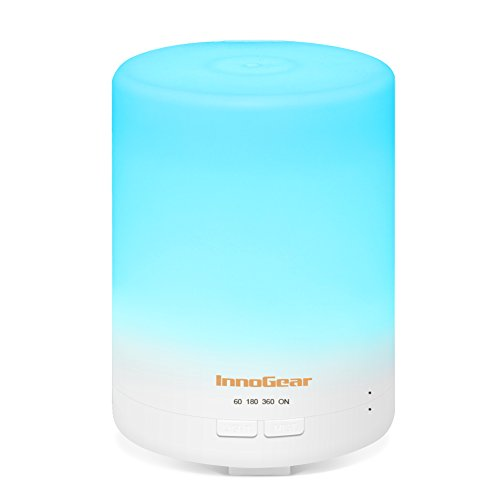 InnoGear-300ml-Aroma-Essential-Oil-Diffuser-Portable-Ultrasonic-Aromatherapy-Cool-Mist-Humifidier-Air-Purifier-with-7-Colors-LED-Changing-Lights-Timer-Settings-Waterless-Auto-Shut-off