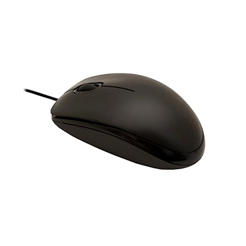 GiXa Kabel-gebunden Handlich Optische USB Maus für Computer PC Notebook Laptop Komfort Ergonomisch Linkshänder/Rechtshänder