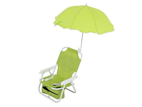 Dajar Liegen stuhl mit Sonnenschirm für Kinder, Limette