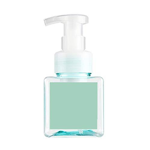 newhashiqi Schaumflasche Handdesinfektionsmittel Flasche Kosmetikflasche quadratisch Duschgel Leere Füllung Pumpflasche Flüssigseifenspender Behälter 250 ml grün (Bier Seifenspender)