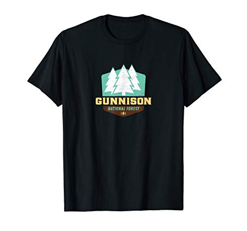Gunnison National Forest Colorado New Vintage Shield T-Shirt -