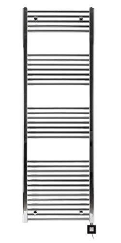 Radiateur électrique sèche serviette chromé 1775 x 500 - 1000W