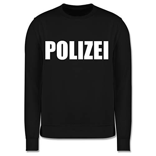 Kostüm Kinder Sweatshirt - Shirtracer Karneval & Fasching Kinder - Polizei Karneval Kostüm - 12-13 Jahre (152) - Schwarz - JH030K - Kinder Pullover