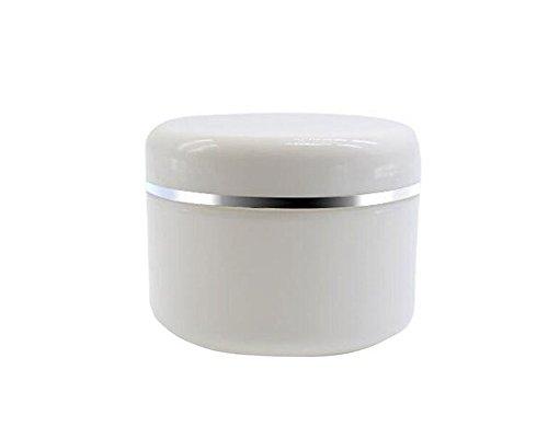 20g/50g/100g-Trucco Cosmetici Barattoli in Plastica Bianca con Coperchio a cupola, Crema Viso Vuoto Lip Balm Lozione contenitore custodia Vaso (Confezione da 6)