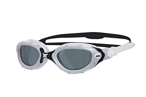 Zoggs Predator Flex Smoked Polarized Schwimmbrille, White/Black, One Size