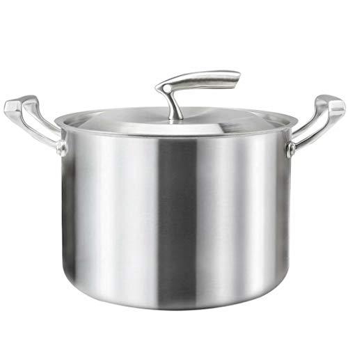 304 en Acier Inoxydable Pot de Soupe Pot de Grande capacité Maison épaissie approfondir Pot de Bouillie marmite