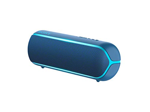 Sony SRS-XB22 Portable Waterproof Wireless Bluetooth Speaker with EXTRA BASS and Lighting - Blue
