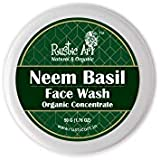 Rustic Art Organic Neem Basil Face Wash Concentrate for Deep Cleansing | Anti-Bacterial Anti-Fungal | 50gm