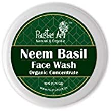 Rustic Art Organic Neem Basil Face Wash Concentrate for Deep Cleansing | Anti-Bacterial Anti-Fungal | 50gm