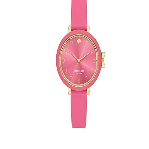 Reloj para Mujer Kate Spade con Correa de Silicona Rosa y Esfera Rosa KSW1518
