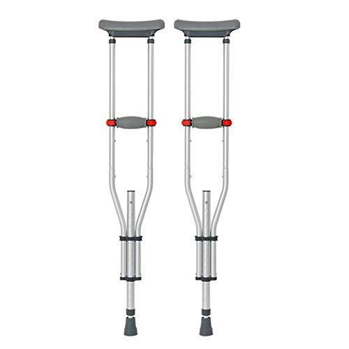 Aisson Muletas De Aluminio Ajustables Fáciles, Muletas De Codo para El Cuidado De La Salud, Muletas De Aluminio para Caminar,Plata