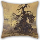 Preisvergleich Produktbild Elegancebeauty Pillow Covers Of Oil Painting Sir Hubert Von Herkomer - The Dying Monarch, Funtensee 20 X 20 Inches / 50 By 50 Cm,best Fit For Father,kids Room,bench,home Theater,dance Room Twin Sid