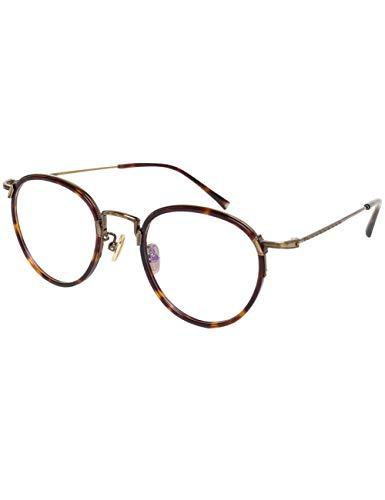 MOMOQU Sun Glasses Reine Titan Handgemachte Platte Kreisförmige Frame Eye, Weibliche Retro-Literatur Und Kunst Full Frame Eye Frame, Männliches Gesicht, Blütenfarbe