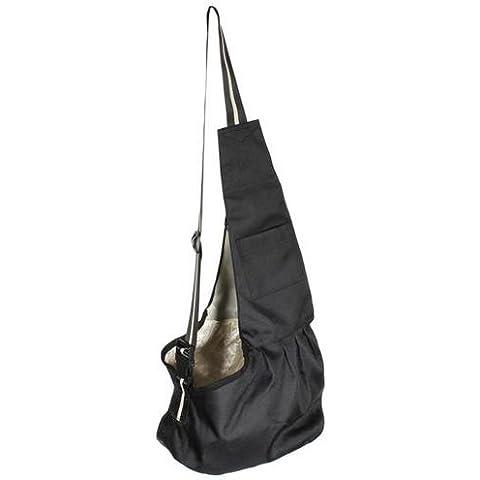 Oxford tessuto Andoer animali cane gatto Carrier borsa a tracolla singolo, colore nero