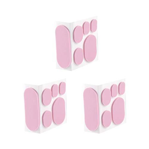 Exceart 3 Blatt Moleskin Klebeband Blasenprävention Pads Ferse Aufkleber Klebstoff Unsichtbare Mais Aufkleber Fußpflege Pad -