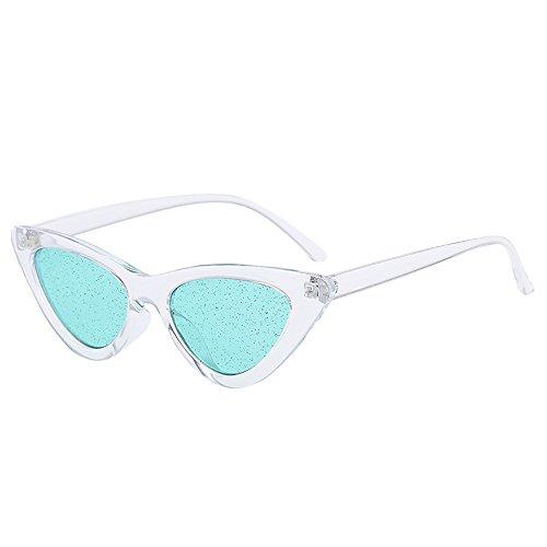 iCerber sonnenbrillen Chic Lässig Einzigartig Vintage Cat Eye Pailletten transparente Sonnenbrille Retro Brillen Mode UV 400 ❀❀2019 Neu❀❀(Mehrfarbig)