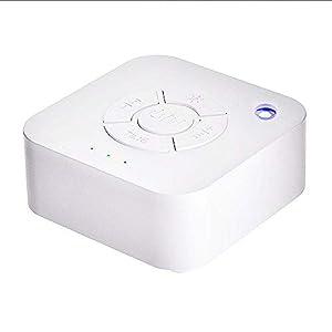FOONEE White Noise Sound Machine Schlaftherapie-Musik-Licht mit 9 Entspannenden Naturgeräuschen für Zuhause, Büro, Baby und Reisen – USB Aufladbar und Auto-Off-Timer