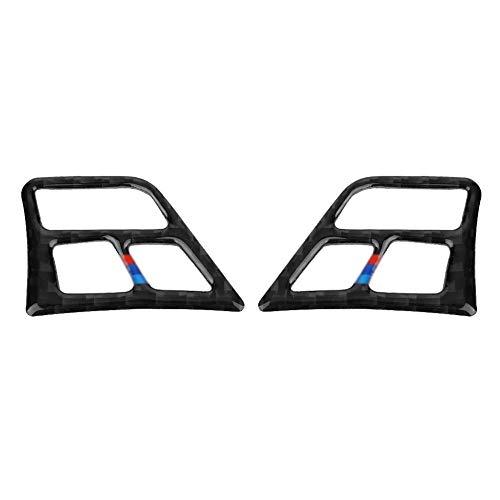 KIMISS Adesivi per bottoni volanti in fibra di carbonio per accessori interni auto(Color)