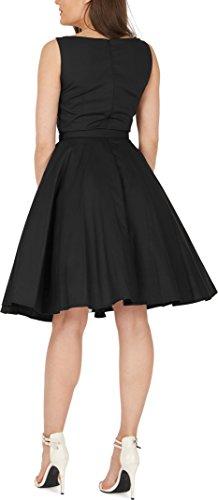 Black Butterfly 'Audrey' Vintage Clarity Kleid im 50er-Jahre-Stil (Schwarz, EUR 36 – XS) - 3