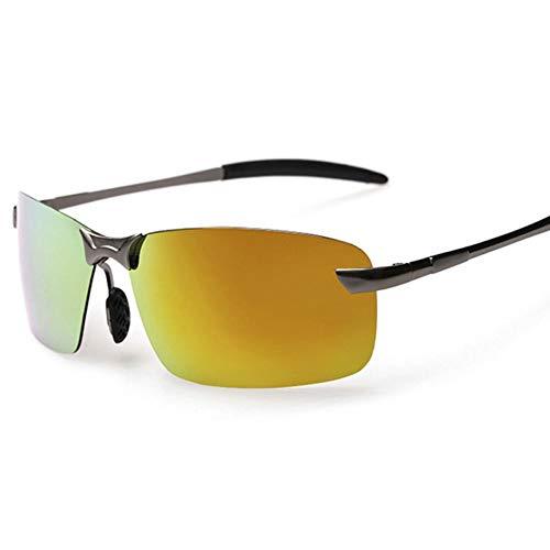 TIANZly Randlose Polarisierte Sonnenbrille Für Herren Pilot Super Cool Coating Driving Sun Glasses