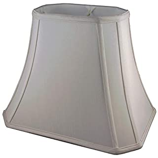 American Pride Lampshade Co. 74-78095412 Rectangle Soft Tailored Lampshade, Shantung, Croissant