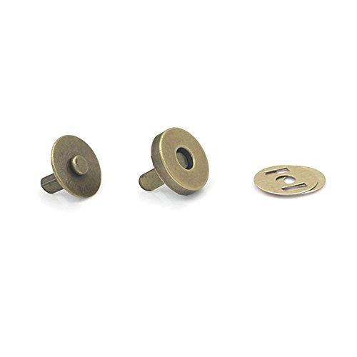 Magnetische Druckknöpfe Verschlüsse Tasten für Geldbörse Handtasche Geldbörse Taschen, 10Stück, bronze, 18 mm - Magnetische Snap Tasche