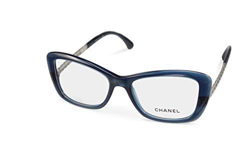 Chanel Damen Accessoires (CHANEL Brillenfassung Brille CH3358 c.1390 blue silver (53-17))