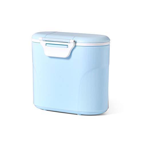 Luchild Milchpulver-Spender Tragbarer Baby-Milchpulver-Behälter Formel Milchpulver-Vorratsbehälter mit Gleichmacher 600ML(Blau)
