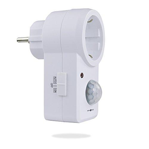 X4-LIFE Steckdose mit Infrarot Bewegungsmelder • 9 Meter • 120° • 1200W • weiß