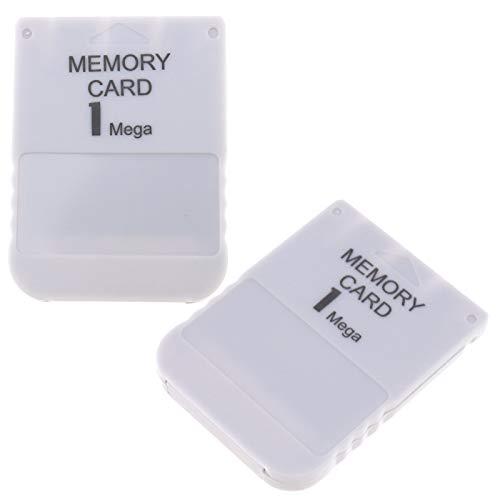 2x 1 MB Speicherkarte für PS1 PlayStation 1 Spielsystem Memory Card Memorykarten