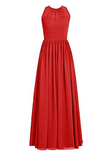 Dresstells, Robe de soirée sans manches, robe de cérémonie, robe longue de demoiselle d'honneur Rouge