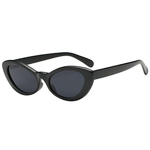 URIBAKY Unisex Sonnenbrille Rund Verspiegelt,Retro Katzenauge  Brillen Jahrgang Katzenauge Getäfelt Frauen Mann