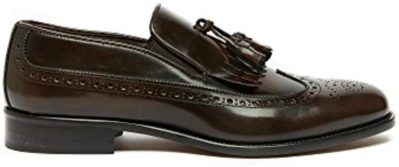 Slip on Männer in Leder Made in Italy  Billig und erschwinglich Im Verkauf