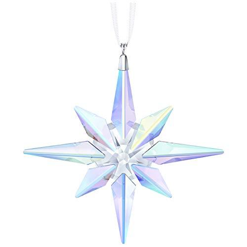 Swarovski star ornament, crystal ab, cristallo, trasparente, 10.6x 10x 1.8cm,
