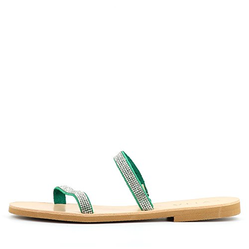 GRETA Damen Sandale Rauleder fein Grün